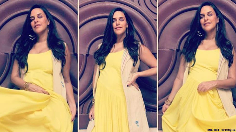 Neha Dhupia Is Glowing in This Yellow Ensemble and the Reason Is Special