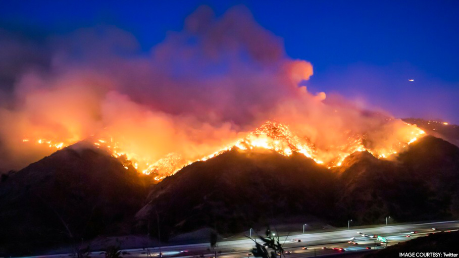Getty Wildfire Destroys Multi-Million Dollar Homes in The Posh Locality Of L.A.