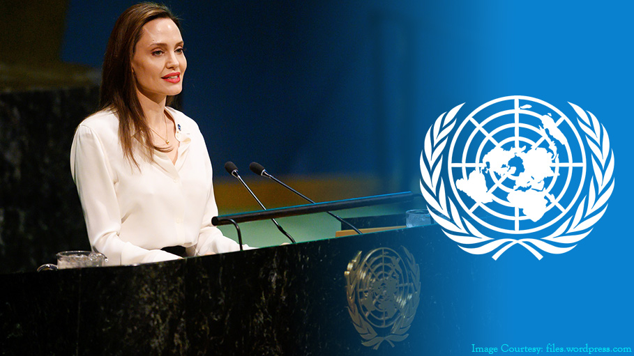 Angelina Jolie at United Nations, Calls for Women's Participation in Afghan Peace Talks