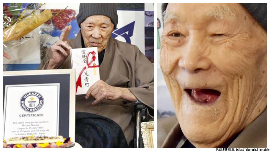 112 Years Old Japanese Recognised as the Oldest Living Man on Earth