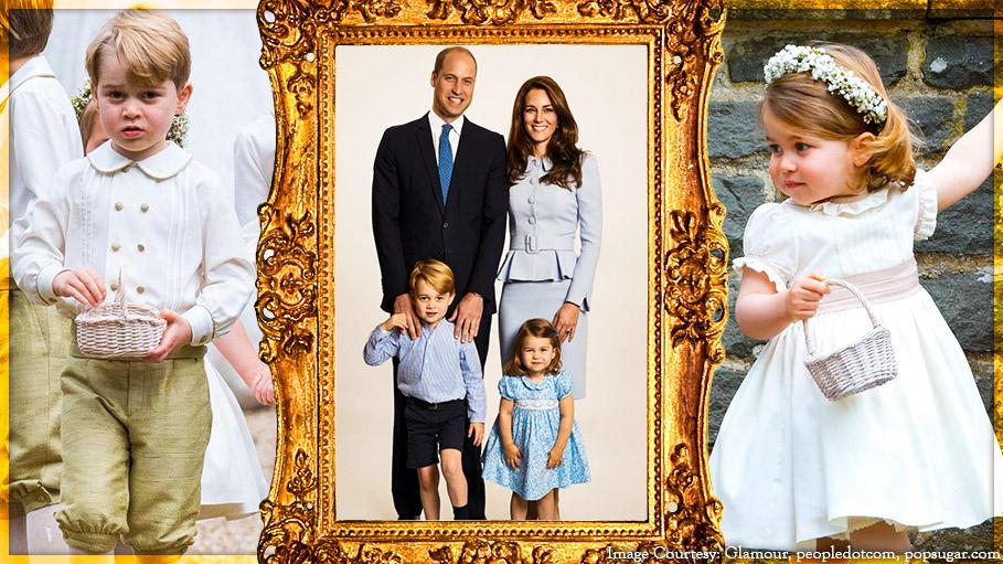 Royal Wedding's Page Boy Prince George and Bridesmaid Princess Charlotte