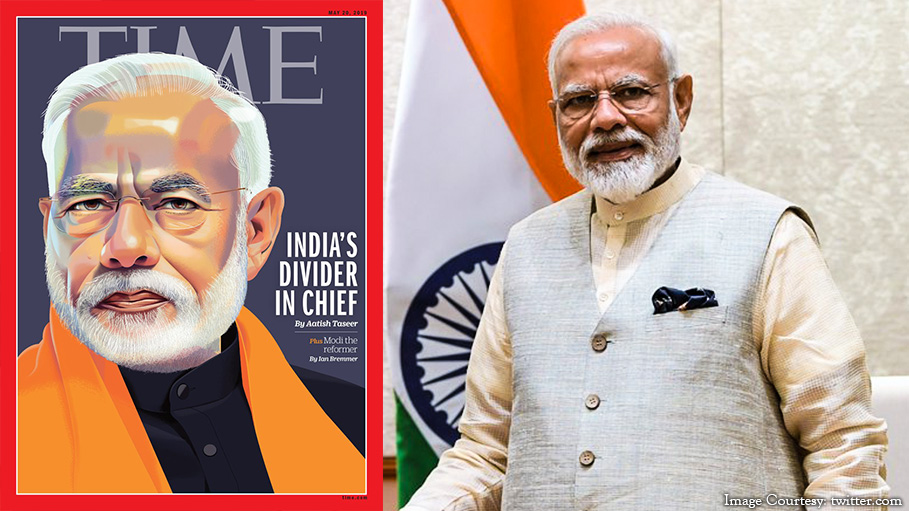 'TIME' Changes Its Cover from 'Modi: Divider in Chief' to 'Modi Has United India'