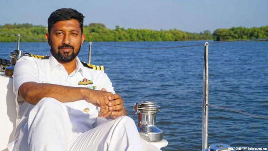 Indian Navy Commander Rescued after Four Days from Indian Ocean
