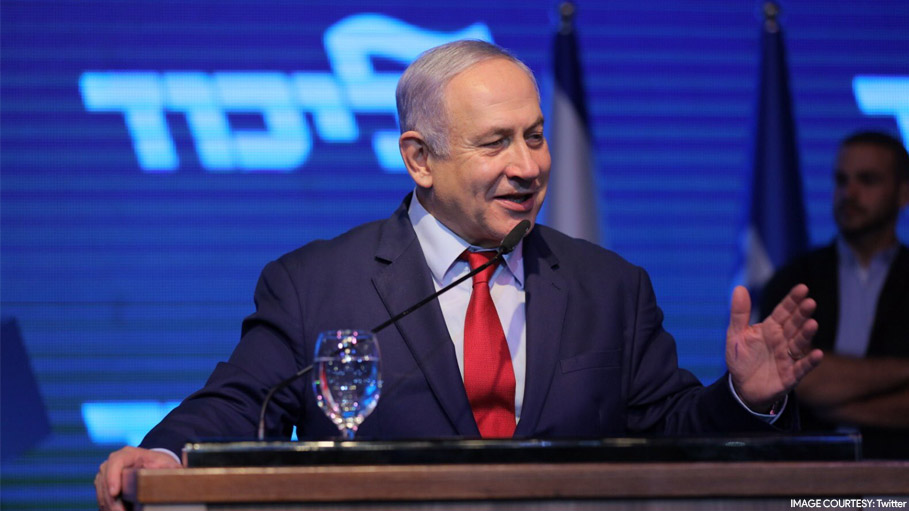 Israel Aircraft Hits Gaza Forcing Benjamin Netanyahu off Stage