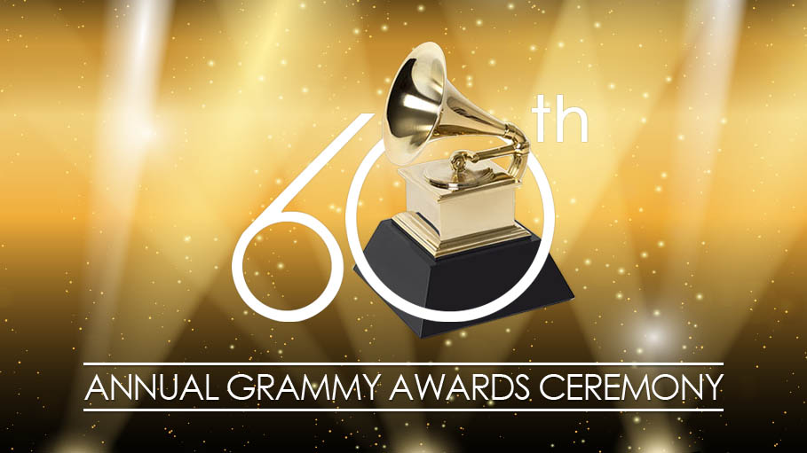 The 60th Annual Grammy Awards Ceremony will be Held on January 28, 2018