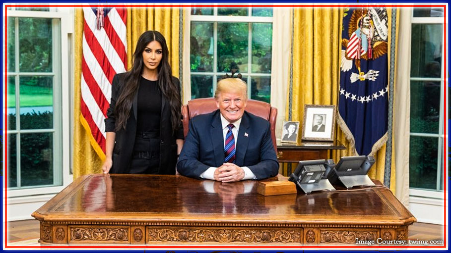 Kim Kardashian Meets President Donald Trump