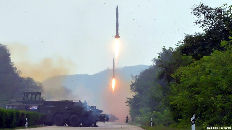 North Korea Test-Fires Two Short Range Missiles Again