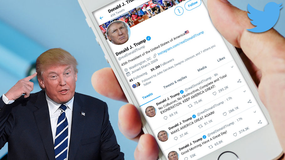 Trump Took to Twitter with 52 Tweets in 34 Hours
