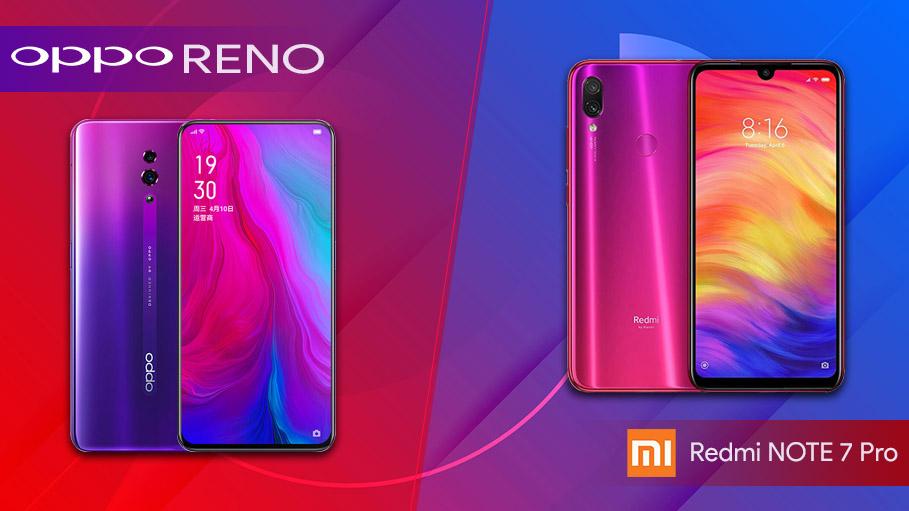 Oppo Reno vs Xiomi Redmi Note Pro 7 - the 48 MP Camera Competition