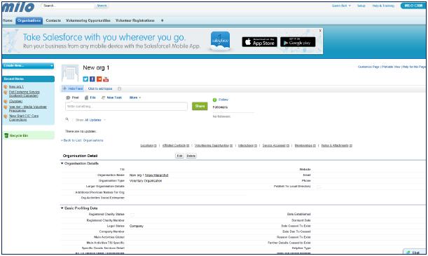 Org Screen