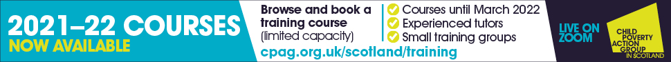 New Courses Available Online with CPAG Scotland