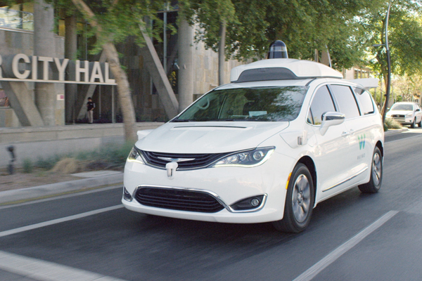 Waymo's autonomously Chrysler Pacifica Hybrid minivan on public roads
