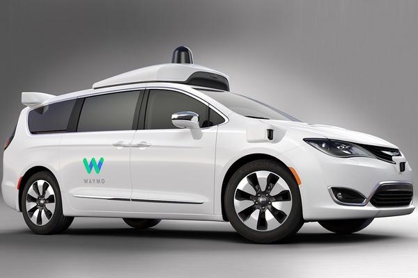 Waymo's autonomously driven Chrysler Pacifica Hybrid minivan 1