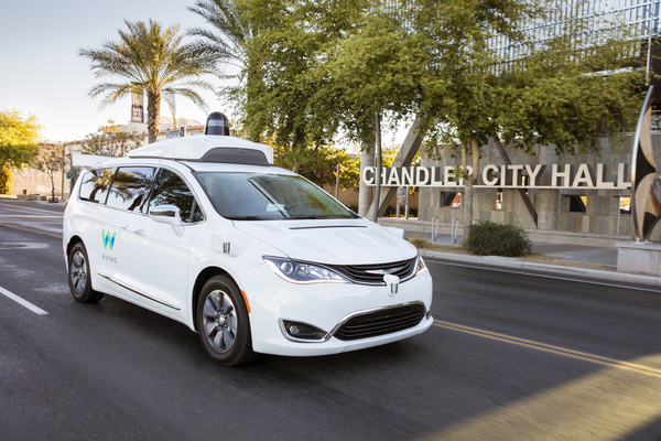 Waymo's fully self-driving Chrysler Pacifica Hybrid minivan on public roads