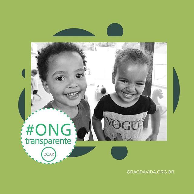 Recebemos o Selo: #ONGTransparente