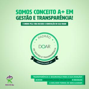 Conceito A+ em gestão e transparência!