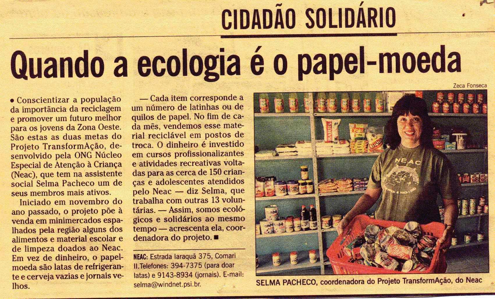Matéria Jornal O Globo