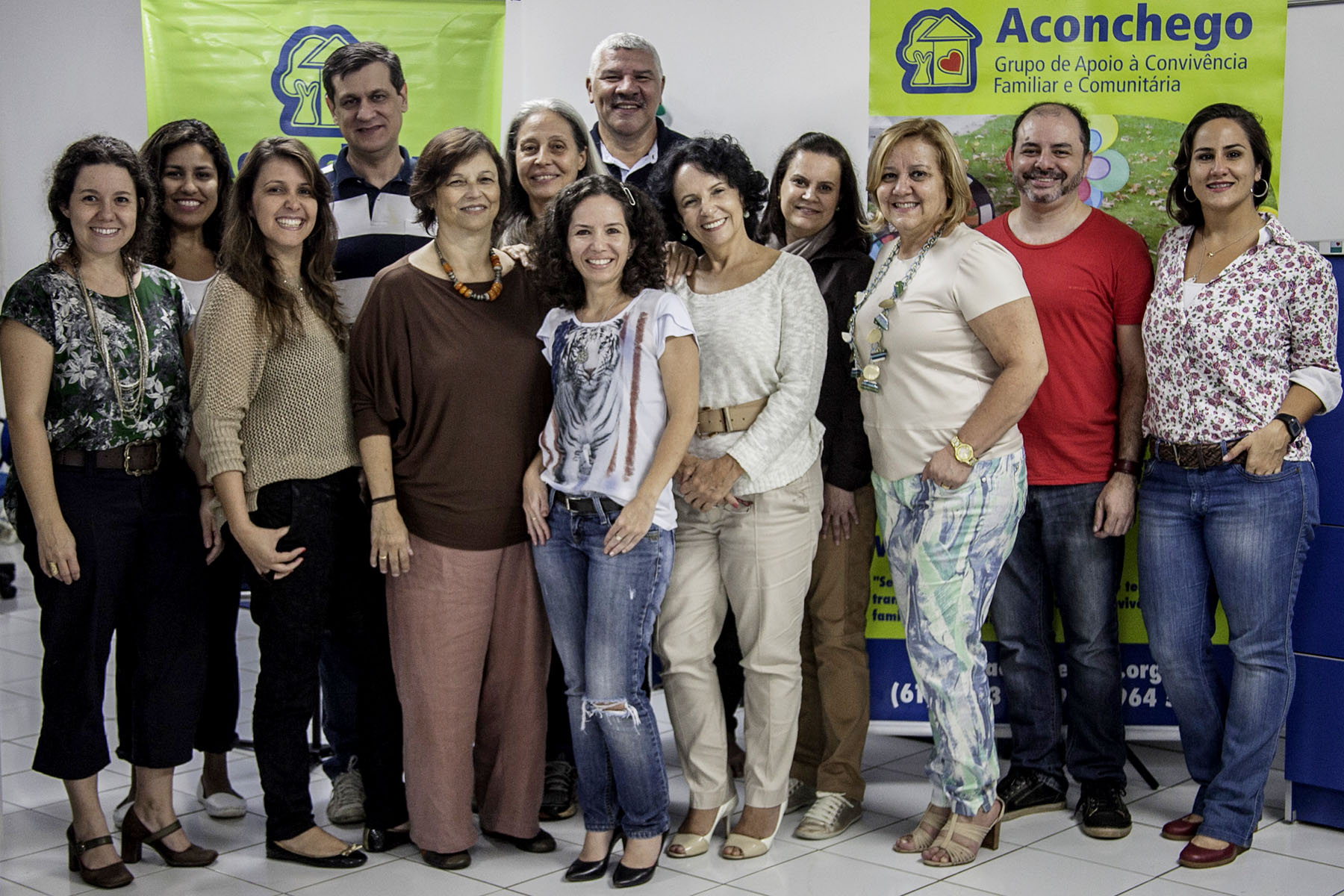 Foto da equipe da ONG Aconchego