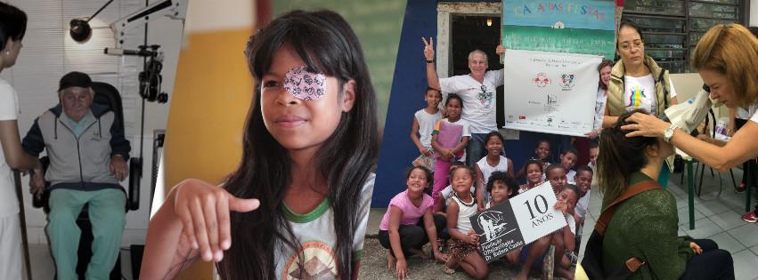 Foto da equipe da ONG Fundação Oftalmológica Dr. Rubem Cunha