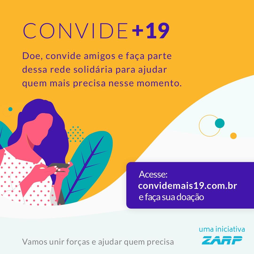 CONVIDE+19 - Vamos unir forças e ajudar quem precisa