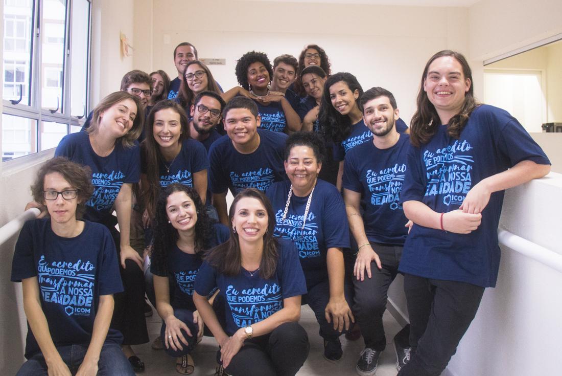 Foto da equipe da ONG  ICOM - Instituto Comunitário Grande Florianópolis