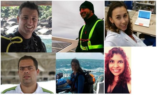 Foto da equipe da ONG IPM - Iniciativa Pro Mar