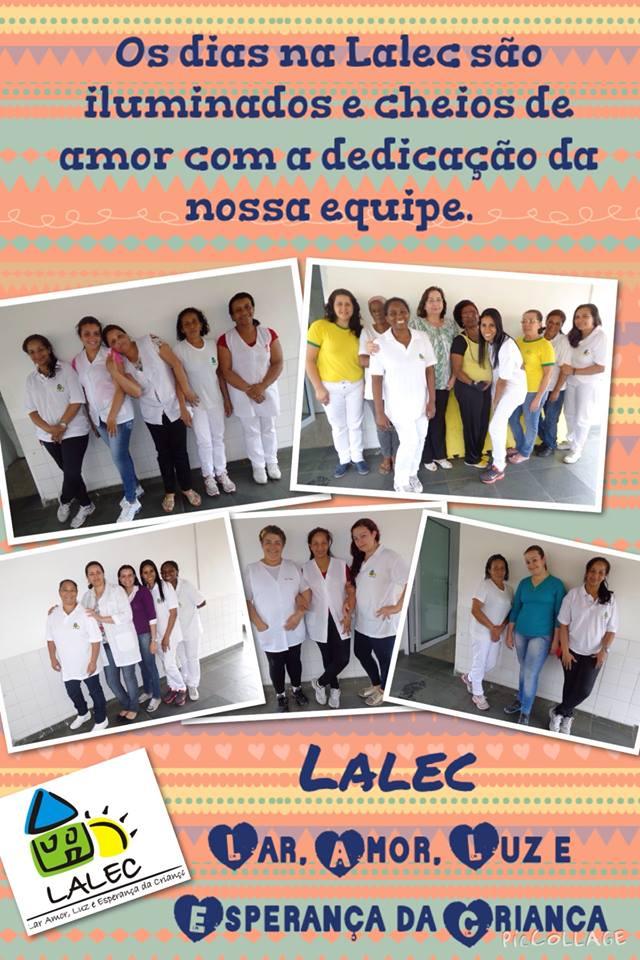 Foto da equipe da ONG LALEC