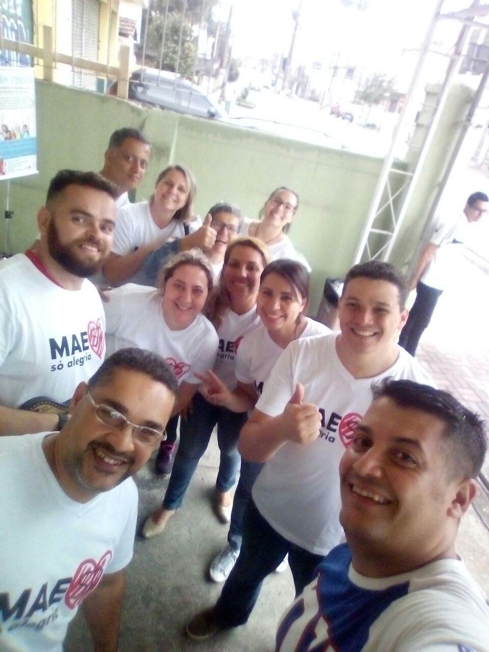 Foto da equipe da ONG MAESP Social Cultural Esportiva