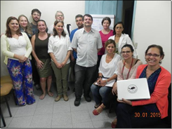 Foto da equipe da ONG Mater Natura