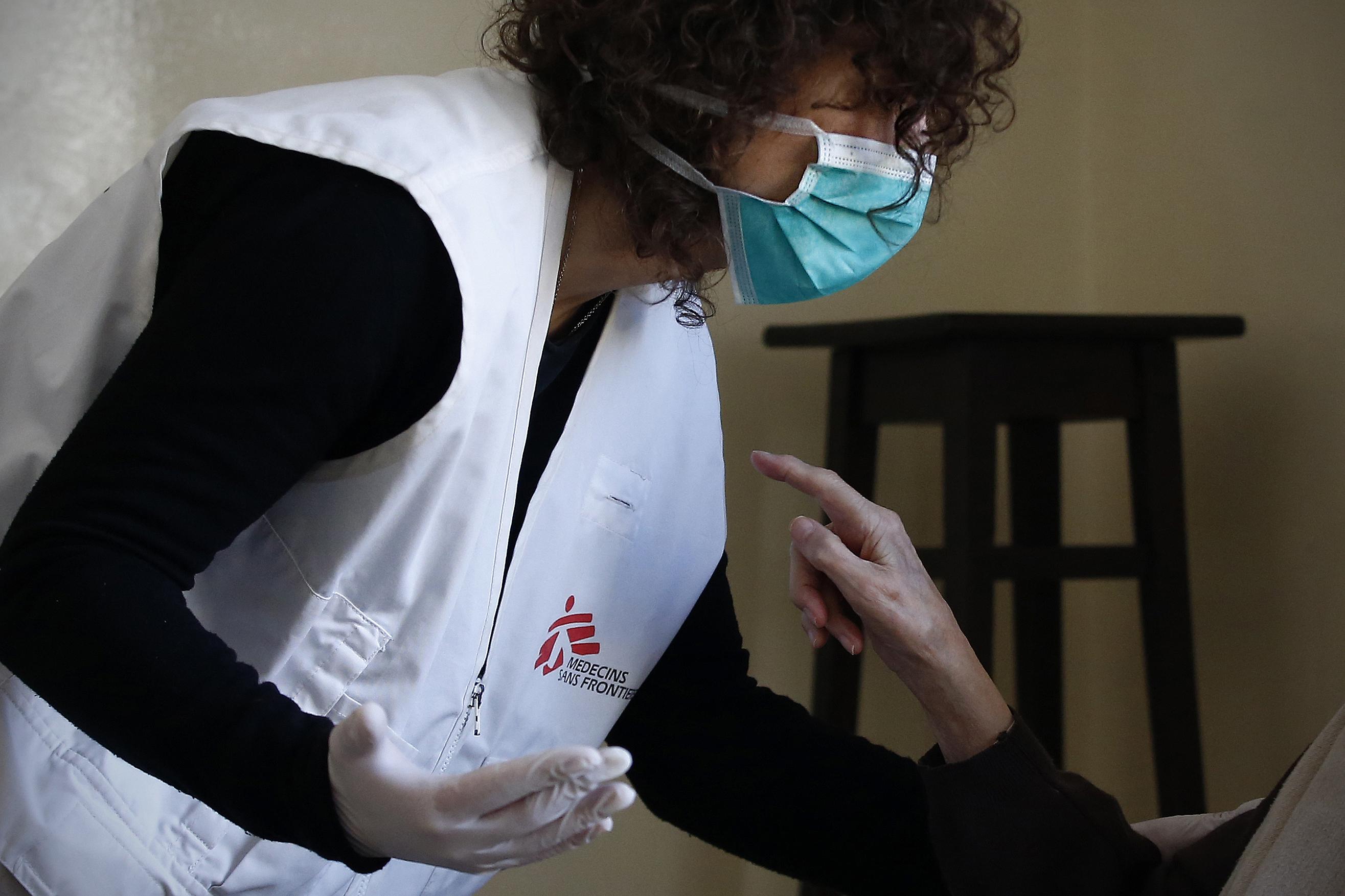 Foto da equipe da ONG médicos sin fronteras