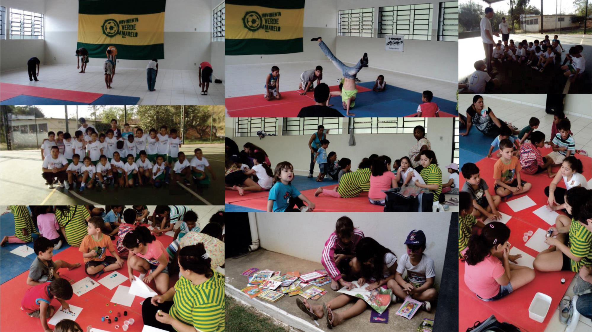 Foto da equipe da ONG Movimento Verde Amarelo