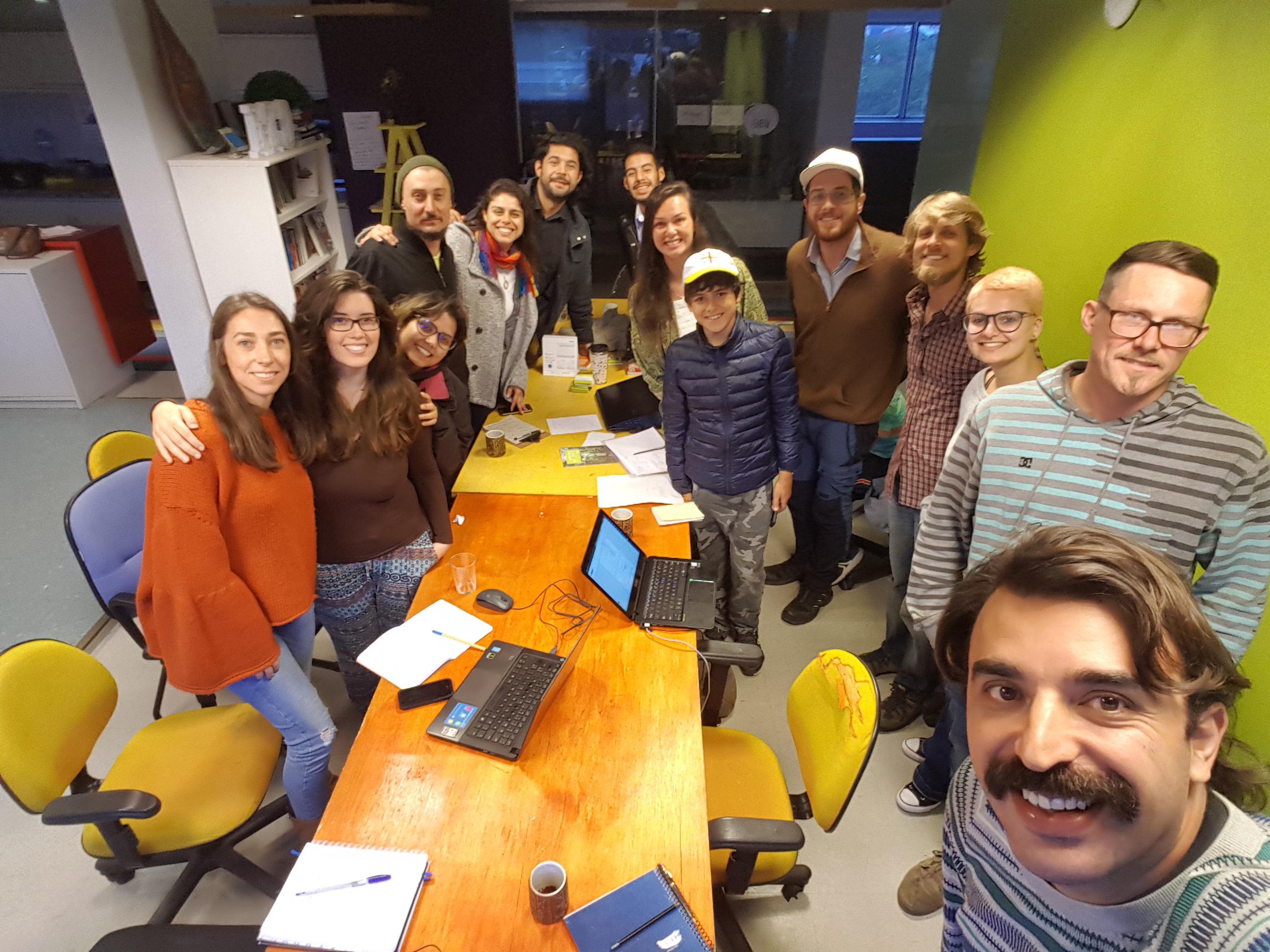 Foto da equipe da ONG Terraço Verde