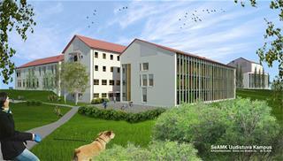 Havainnekuva uudesta kampusrakennuksesta.