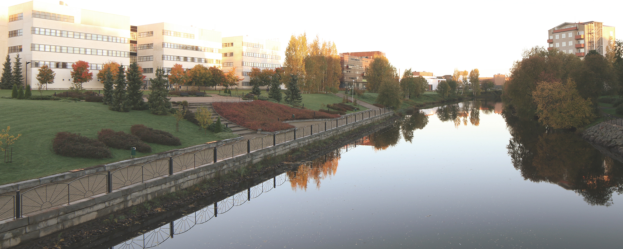 Frami Campus Area on a sunny Autumn morning