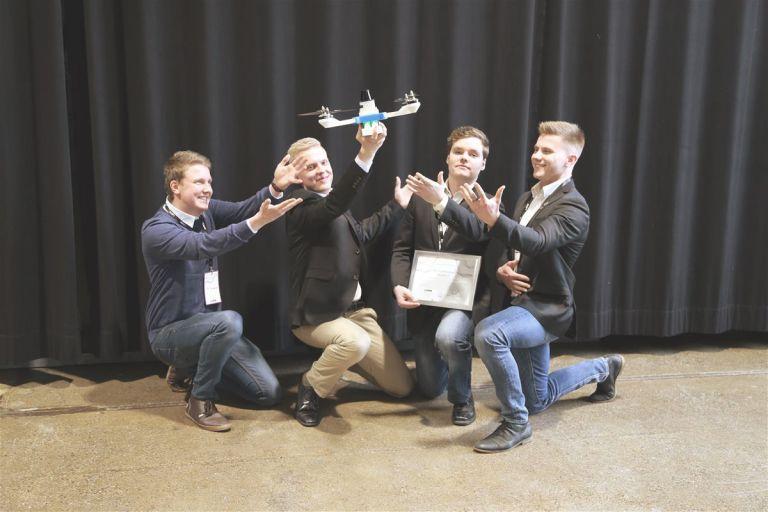 Inssiforum 2017 -voittajatiimi.