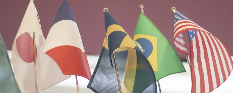 Eri maiden lippuja.