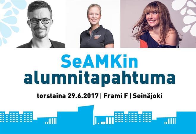 SeAMKin alumnitapahtuma Seinäjoen Framilla 29.6.2017