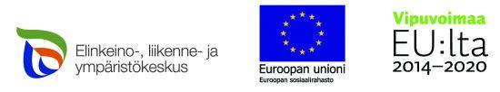 Ely-keskus, Europpan unionin sosiaalirahasto ja Vipuvoimaa EU:lta 2014-2020 logot