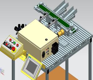 SeAMK Digital Factory lajittelukuljettimen havainnekuva