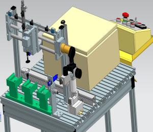 SeAMK Digital Factory RFID-tunnistuksen havainnekuva