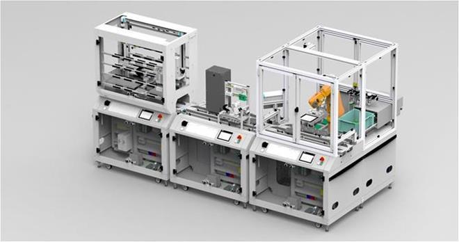 Tibori teollisen internetin laboratorio, jossa erilaisia laitteita ja kojeita.
