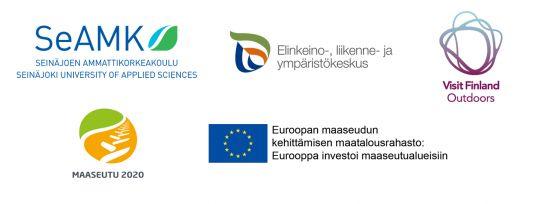 Matkailuhankkeiden rahoittajien logot.