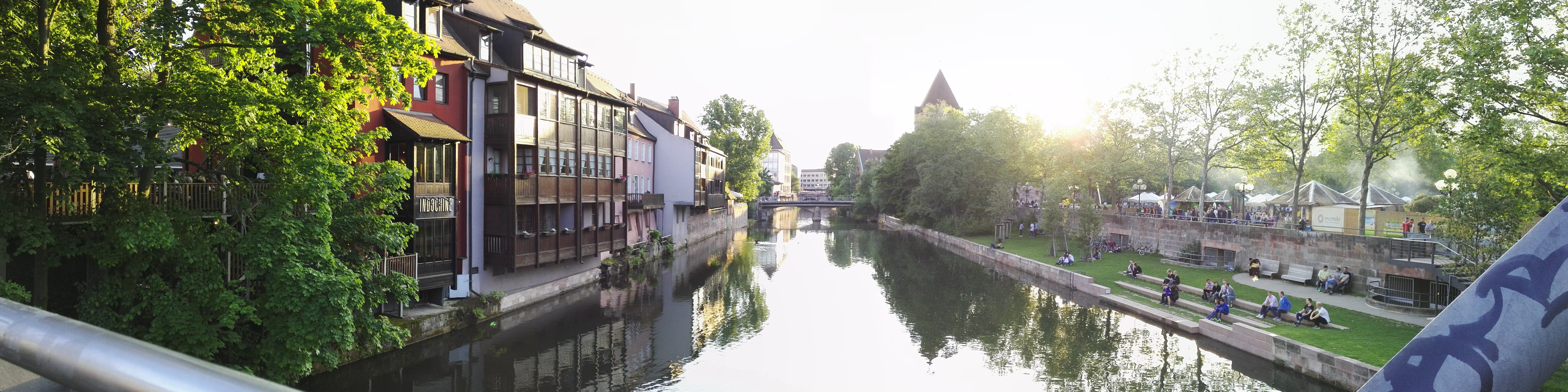 River Pegnitz streaming through the Old Town