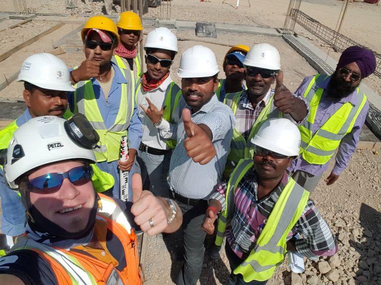 Onnistuneen perustuskatselmuksen päätteeksi Omanin työmaalla