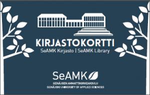 SeAMK Kirjaston kirjastokortti 2018