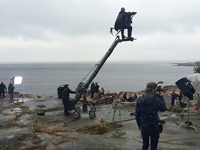 Tulen morsian -elokuvan kuvaukset Ahvenanmaalla 2015.