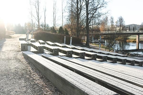 Seinäjoki in the first few days in the winter season (Photographer: Binh Nguyen).