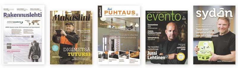 emagz-palveluun kuuluvia lehtiä