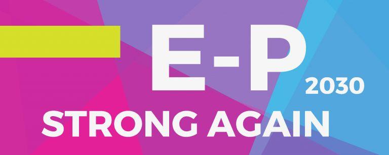 E-P2030 Strong Again -kilpailun logo