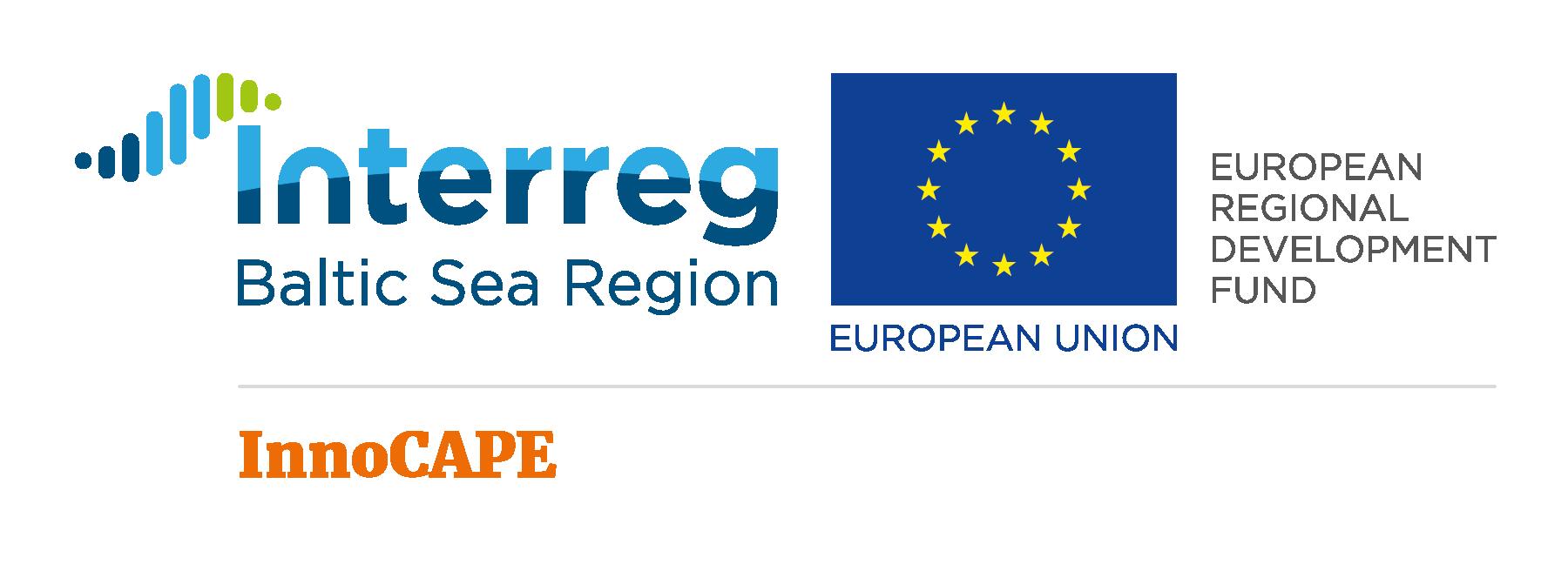 InnoCAPE an Interreg Baltic Sea Region project funded by Europen Regional Development Fund